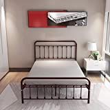 12 Inch Full Size Bed Frame/Mattress Foundation/Box Spring Replacement with Headboard/Heavy Duty Metal Slat Support/Ultra-Large Under Bed Storage
