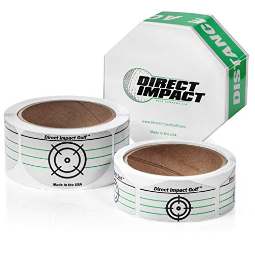 Direct Impact Golf Golf Impact Tape Combo Pack 100 Driver and 100 Iron Labels.