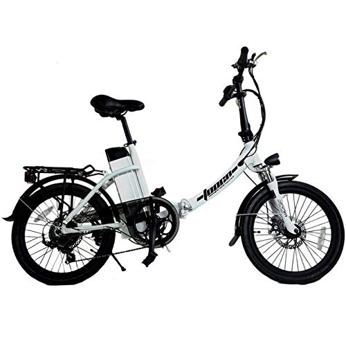 DAS.BIKE Alu 20' Klappbar Elektrofahrrad Faltbike E-Bike ebike Weiß