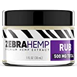 ZEBRA HEMP Topical Natural Joint & Muscle Pain Discomfort Relief Rub/Cream/Salve - Soothing Topical Gel Providing Relief for Sore Muscles -500 mg