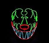 XIBAO Party Show Masken, Maskerade Glow Maske, Bar Party Fluoreszierende Maske, Halloween Maske, für Festival Cosplay Kostüm