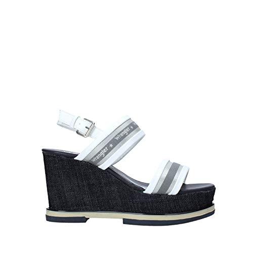 Sándalo Wrangler Mujeres Broche de imitación WL01553A Blanco Un Calzado cómodo Adecuado para Todas Las Ocasiones. Primavera Verano 2020 de la UE 40