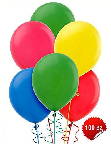 gemar-100Globos Multicolor Grandes 12 para Fiestas, Colores Surtidos, G110/80