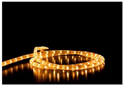 Idena 31487 - LED Lichterschlauch mit 100 LED in warm weiß, 8 Stunden Timer Funktion, Innen und Außenbereich, für Weihnachten, als Deko, Stimmungslicht, Durchmesser ca. 0,5 cm, Länge ca. 10 m
