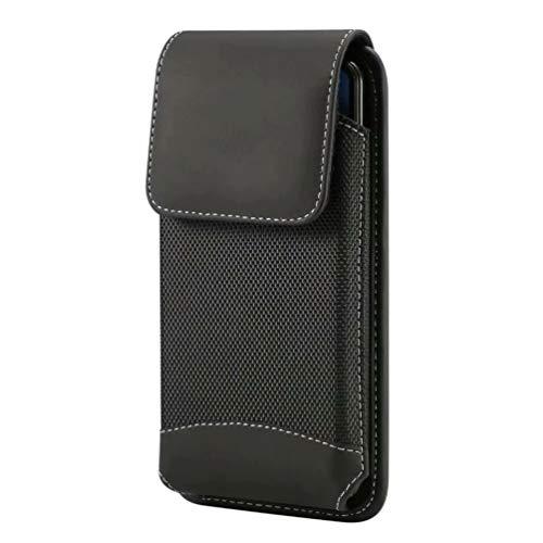 スマホケース 縦型 ベルトクリップ 携帯ホルダー ベルト 腰 ポーチ 対応機種 iPhone XS max, Xperia 1 II, Xperia 5, iPhone 11 pro Max, Aquos R3 (6.3インチ携帯ケース)