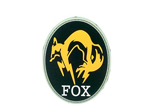 Patch Nation Fox Foxhound Metal Gear Solid Cosplay PVC Airsoft Klettverschluss Abzeichen