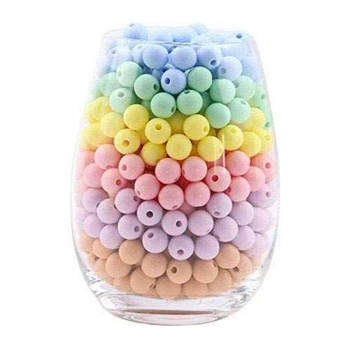 Silicone Teething Beads 12mm(0.47inch) 100PCS Stylish & Natural DIY Necklace BPA-Free Chewable Stretchy Beads Teething Accessory Teether for Baby to Chew