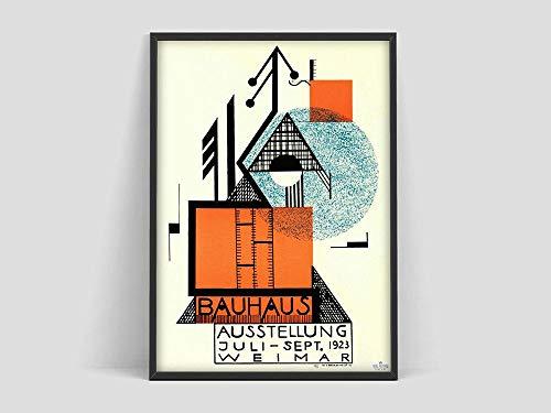 Póster de la Bauhaus, Weimar 1923, impresión de la exposición de la Bauhaus, póster, póster de la impresión de la Bauhaus, arte de la Bauhaus Pintura sin marco de Matisse J 30x45cm