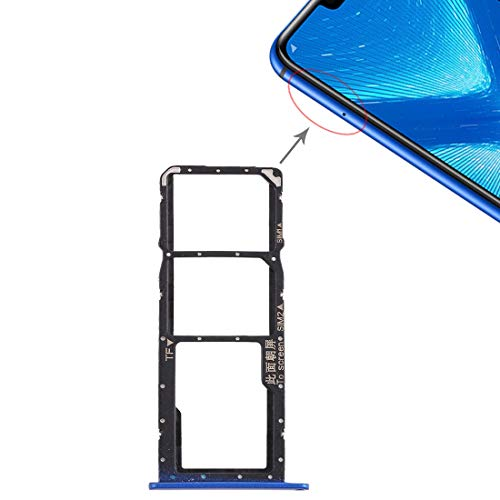 Dmtrab Recambio Bandeja de Tarjeta SIM + Bandeja de Tarjeta Micro SD for Huawei Honor 8X (Negro) Tarjeta De Teléfono (Color : Blue)