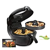 Tefal YV9708 ActiFry Genius XL 2 en 1 - Freidora sin Aceite, Tecnología Dual Motion, Capacidad XL, 9 Programas, Apta para el Lavavajillas para hasta 1,7 kg de Frituras, dos Zonas Cocción, Cocina Sana