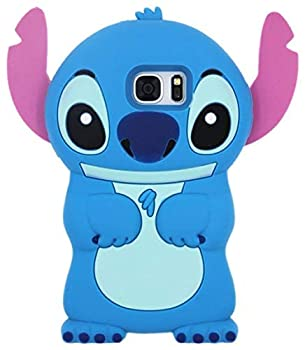 Blue Stitch Case for Samsung Galaxy S7,3D Cartoon Animal Cute Soft Silicone Rubber Protective Kawaii Funny Character Cover,Animated Fun Cool Skin Shell Cases for Kids Child Teens Girls Guys Galaxy S7