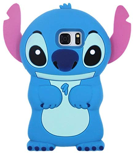 Blue Stitch Case for Samsung Galaxy S7,3D Cartoon Animal Cute Soft Silicone Rubber Protective Kawaii Funny Character Cover,Animated Fun Cool Skin Shell Cases for Kids Child Teens Girls Guys(Galaxy S7)