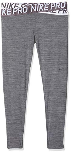 Nike Damen Pro Intertwist Tights, Oil Heather/Thunder Grey, L