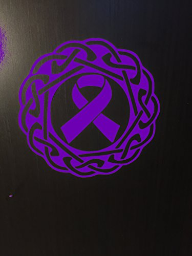 Purple Awareness Ribbon Celtic Knot Window Decal (Epilepsy, Lupus, Cystic Fibrosis, Rett Syndrome, Craniosynostosis, Fibromyalgia) Active
