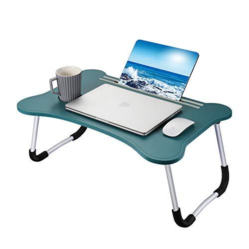Ruiheshiyi Bandeja Desayuno Cama, 55x36x26.5 CM Plegable Mesa Ordenador Cama Soporte Portatil para Ordenador Adecuado para Cama y Sofá Soporte Portatil para Ordenador-(Azul Claro) (Extra Grande)