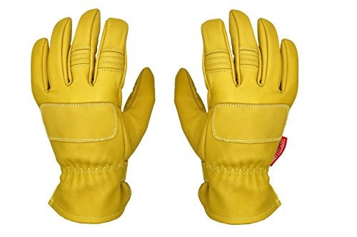 THROTTLESNAKE Guanti Moto Vintage in Pelle con Kevlar Giallo Senape PIT VIPER † Old School Mustard Yellow Motorcycle Leather & Kevlar Gloves (XL)