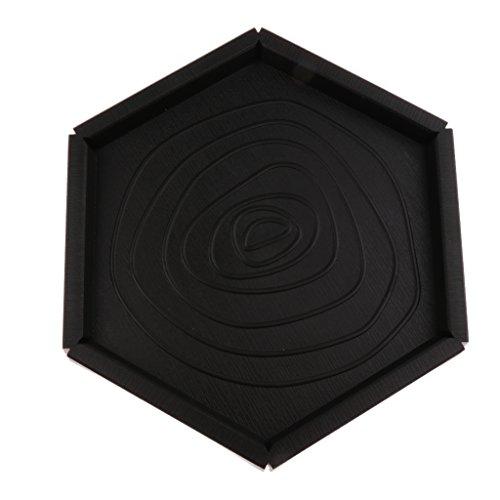 FLAMEER Plastikreptil Nahrungsmittelwasser Schüssel Terrarium Teller Behälter Aquarium Verzierung 2 Formen - Hexagon
