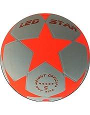 Lichtvoetbal Night Kick LED Star-W - de gloednieuwe kampioen van de lichtgevende voetballen - nu in wit/oranje uitvoering