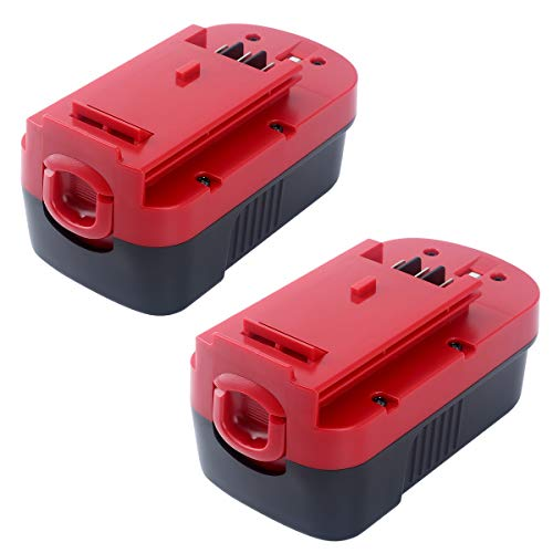 [2 Pack] HPB18 3600mAh Replace for Black and Decker 18V Battery HPB18-OPE 244760-00 A1718 A18 A18E FSB18 FS18FL FEB180S A18NH FS18FL FS180BX FS18BX NST2118 Firestorm Cordless Power Tools