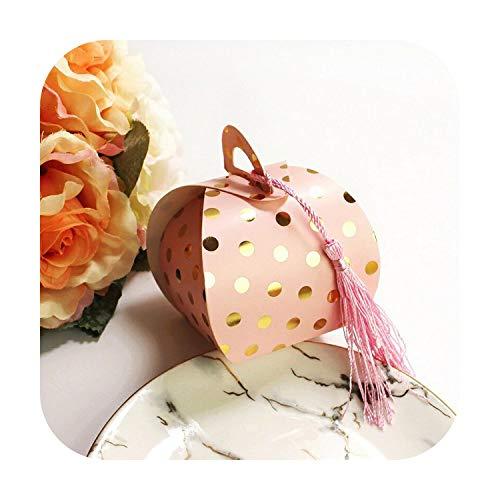 10 Stück Beutel Verpackung aus Kraftpapier Bronzing Dot Bonbons mit Eichel Flamingo Schokolade Geschenkset für Babydusche Geburtstag Hochzeit
