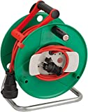 Brennenstuhl 1188470 Garant G - Carrete alargador de cable para jardín (40 m, AT-N07V3V3-F 3G1,5, IP 44)