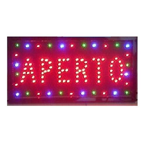 TrAdE Shop Traesio INSEGNA Luminosa INSEGNE Luminose A LED con Scritta Aperto