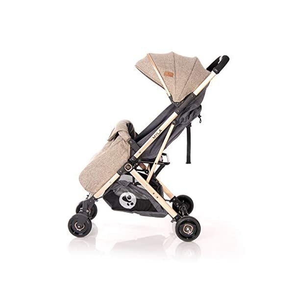 Lorelli Myla Pushchair Aluminium Frame Basket footmuff Foldable with Handle, Colour:Beige Lorelli stroller for children from birth, light aluminium frame sun canopy, adjustable back and footrest, 5-point safety belt innovative folding system with additional handle, foldable with one hand, carrying bag for transport 2