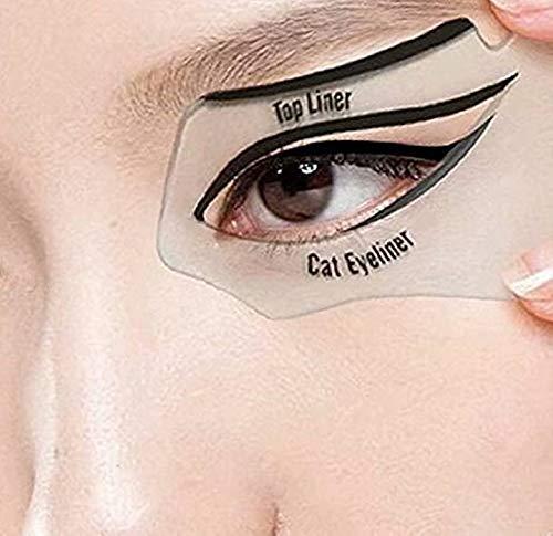 HANBIN Schönheitswerkzeuge Augenverfassungswerkzeuge Rauchige Verfassungsschönheits-Katzenaugen Eyeliner-Schablone 6 in 1 Malerei Eyeliner-Schönheitskarte 10pcs
