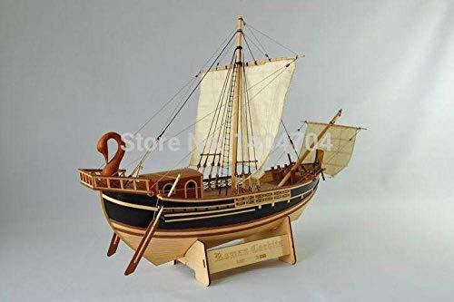 Waterscooters Model Building Kits Ship Model Boot Kit Classic Romeinse Rijk Merchant Ship Model Schaal 1/50 Roman Corbita Trade Boat Ancient Rome Vrachtschip Model