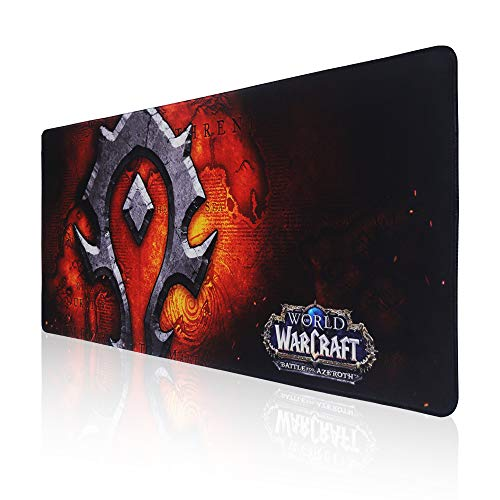 Extended Gaming Mouse Pad for World of Warcraft Horde Large Mousepad,Mouse Mat for Gamer,Office & Home (Horde)