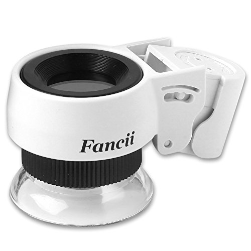 Fancii 30x Fach LED Juwelierlupe Professionell mit Licht, Starke Triplet Juwelier Lupe mit UV-Schwarzlicht für Schmuck, Diamanten, Münzen