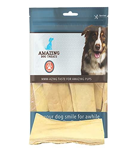 Beef Cheek Strips Premium Dog Chew (6 Inch - 6 Pack) - NO Odor - Thick Cut - Rawhide Alternative - Beef Cheek Slice Chip Sticks - No Dyes, Chemicals, or Preservatives…