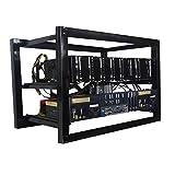 Equipo eléctrico 8 GPU Aluminio Abierto Miner Rig caja apilable marco para ETH Ethereum