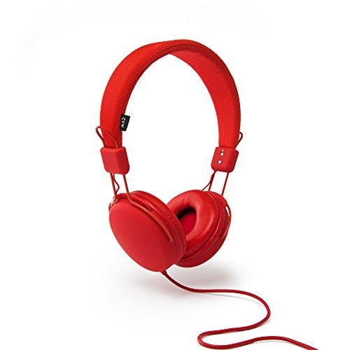 Lichtgewicht koptelefoon van Urbanz, geluidsisolerende oortelefoon met verstelbare hoofdband (rood)