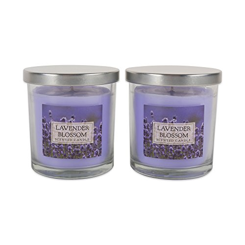 Home Traditions 3-Wick Evenly Burning Highly Scented 4x4' Large Jar Candle with 45+ Hour Burn Time (14.5 Oz) - Lavender Blossom Scent
