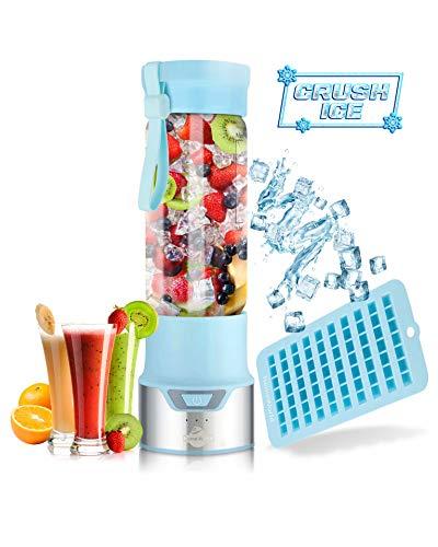 Licuadora portátil para batidos y batidos, mezcla hielo fácil con ...