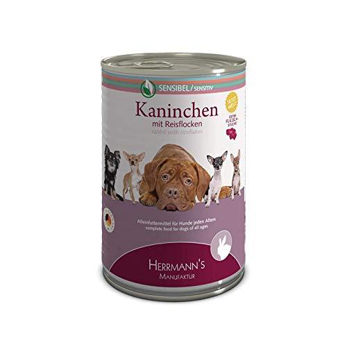 Herrmanns Hundefutter Kaninchen mit Reisflocken, 400 g