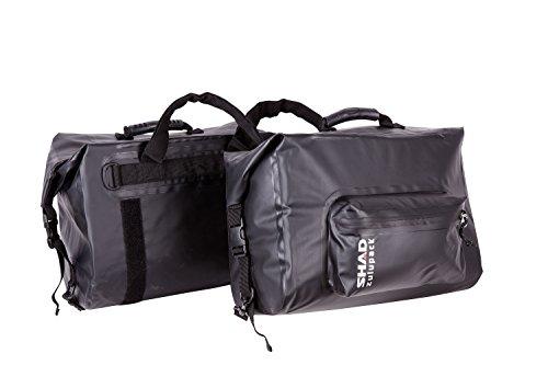 SHAD W0SB42 Saddle Bag SW42 Bolsa Blanda para Motocicleta, Resistente al Agua, Color Negro