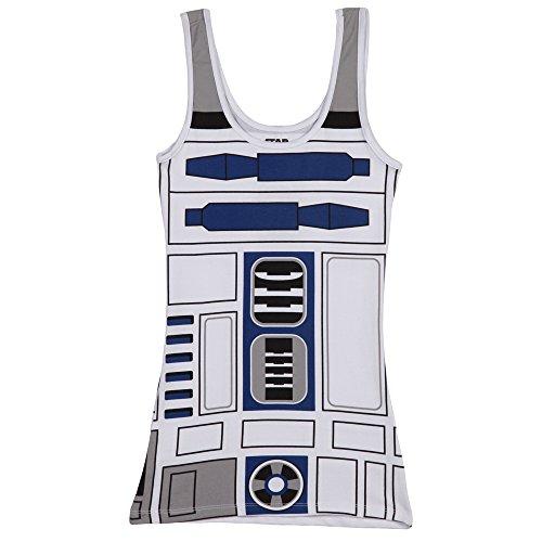 STAR WARS R2-D2 Robot Juniors White Costume Tank...