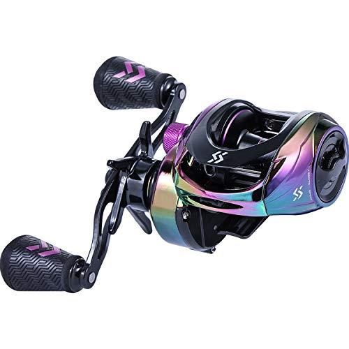 Sougayilang Baitcasting Reels  Colorful Fishing Reel 80:1 Gear Ratios 91 BB Magnetic Braking System  Right