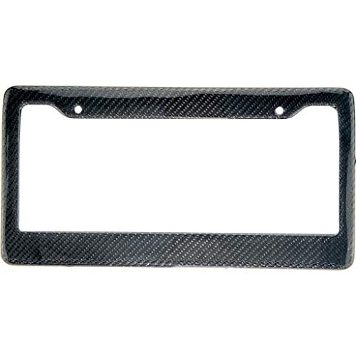 BLVD-LPF OBEY YOUR LUXURY Real 100% Carbon Fiber License Plate Frame Tag Cover FF - C with Matching Screw Caps - 1 Frame (Black)
