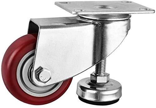 Superior Rincador giratorio de 3 pulgadas ajustable con rueda horizontal para los reposapiés de pie para pie, marco de soporte mediano, gabinete universal, componentes móviles (tamaño: 3 pulgadas)