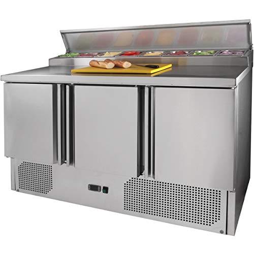 ZORRO - Zubereitungstisch ZPS300-3 Türen - Kühltisch mit GN Einlass - Salatkühlung - Gastro Belegstation