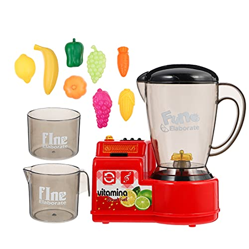 TOYANDONA Simulation Juicer Toy Kitchen Pretend Toy 1 Set Kids Role Play Toy Kitchen Accessories for Kids Toddlers Learning Kitchen Toys Juicer Educational Plaything ( Red )