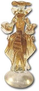 Mondo Italiano Firenze Escultura de cristal de Murano