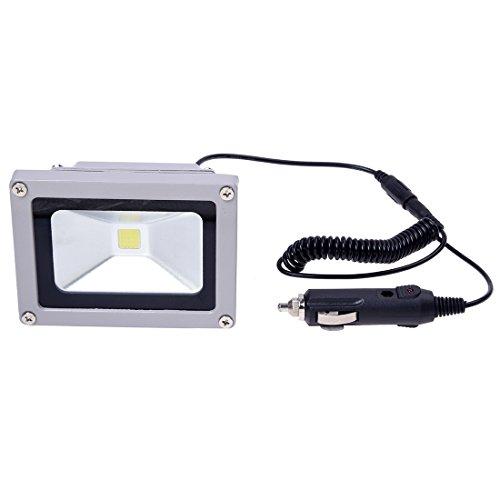 SODIAL(R) PHARE VOITURE PROJECTEUR 10W 12V LED BLANC 7000KTaille 11,4cm x 8,6cm x 8,2cm