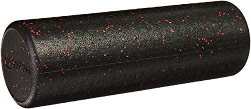 Amazon Basics High-Density Round Foam Roller | 18-inches, Red Speckled