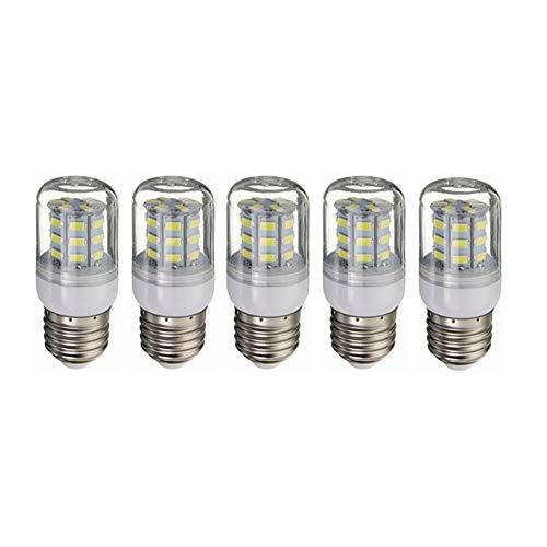 Bombilla LED Bombilla LED E27 4W DC12-80V, equivalente 30W de luz tradicionales, 260-300lumen, de 360 grados, DC12-80V for RV Camper Marina, 5-Pack iluminante Para Garage Factory Warehouse High Bay
