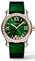 Diamond Happy Sport Quartz 36mm Green Dial Watch