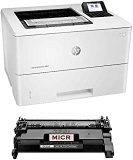 Renewable Toner Laserjet Enterprise M507dn MICR Printer Bundle with 1 Modified MICR Cartridge for Check Printing